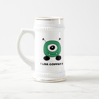 Cute Funny Green Alien Beer Stein