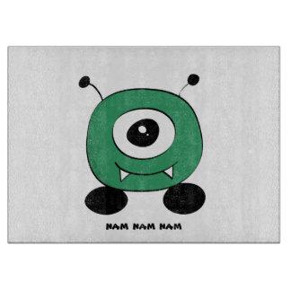 Cute Funny Green Alien Cutting Board