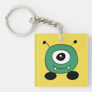 Cute Funny Green Alien Keychain