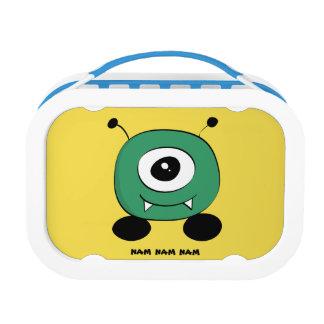 Cute Funny Green Alien Lunch Box