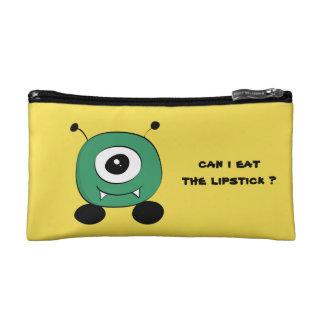 Cute Funny Green Alien Makeup Bag