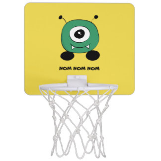 Cute Funny Green Alien Mini Basketball Hoop