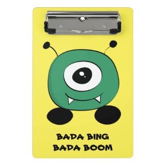 Cute Funny Green Alien Mini Clipboard