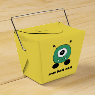 Cute Funny Green Alien Party Favor Boxes