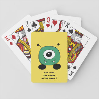 Cute Funny Green Alien Playing Cards