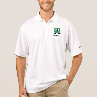 Cute Funny Green Alien Polo Shirt