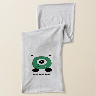 Cute Funny Green Alien Scarf