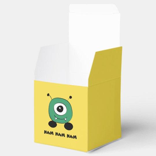 Cute Funny Green Alien Wedding Favor Boxes