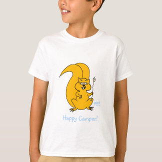 Cute Funny Happy Camper Squirrel Camping T Shirt