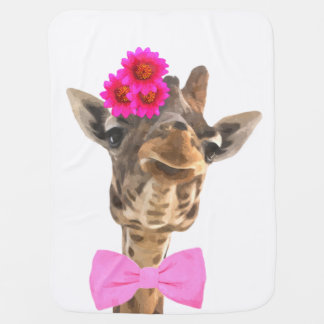 Cute funny jungle animal giraffe for baby/kids baby blanket