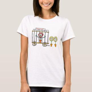 Cute Funny Ladies' Wildflowers Gardening Cartoon T-Shirt
