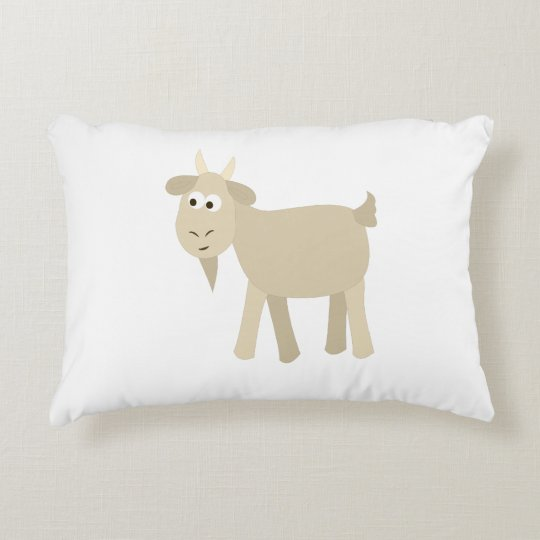 Cute Funny Little Goat Decorative Pillow