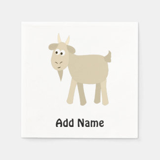 Cute Funny Little Goat Paper Napkins