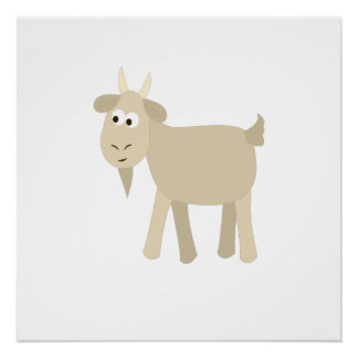 Cute Funny Little Goat Perfect Poster