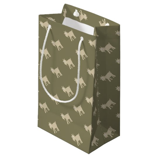 Cute Funny Little Goat Small Gift Bag