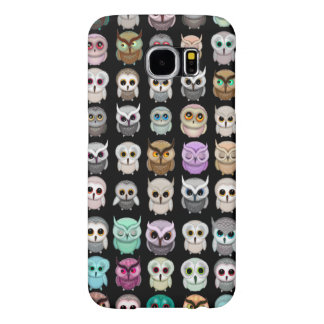 Cute Funny Little Owls Illustrations Samsung Galaxy S6 Cases