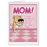 Cute, Funny Mother's Day: Adorable Greeting Card