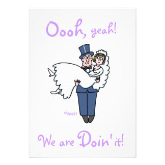"Cute Funny Offbeat Humorous ""Save The Date"" Custom Invites"