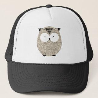 Cute funny owl sketchy illustration trucker hat