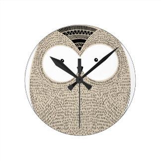Cute funny owl sketchy illustration wallclock