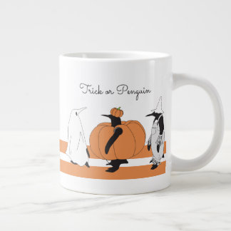 Cute Funny Penguin Animal Halloween Personalized Large Coffee Mug