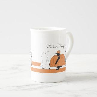 Cute Funny Penguin Animal Halloween Tea Cup