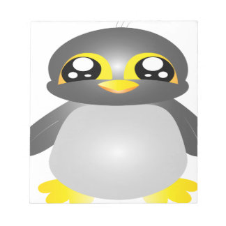 cute funny penguin animal notepad