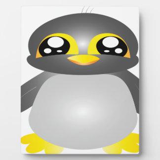 cute funny penguin animal plaque
