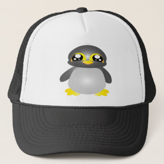 cute funny penguin animal trucker hat