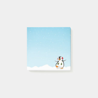 Cute Funny Penguin Winter - Post-it® Notes