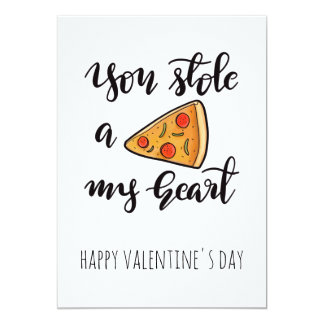 Cute Funny Pizza Valentines Day Card