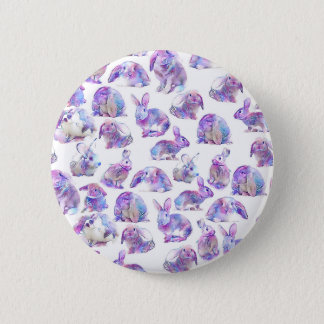 Cute funny rabbits 2 inch round button