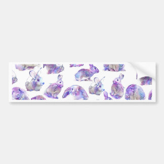 Cute funny rabbits bumper sticker