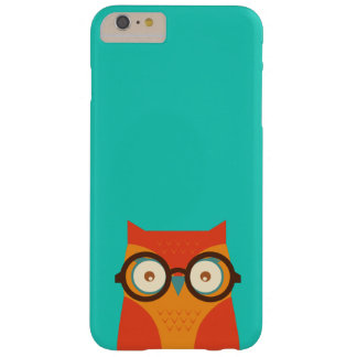 Cute Funny Retro Hipster Owl Thick Framed Glasses Barely There iPhone 6 Plus Case