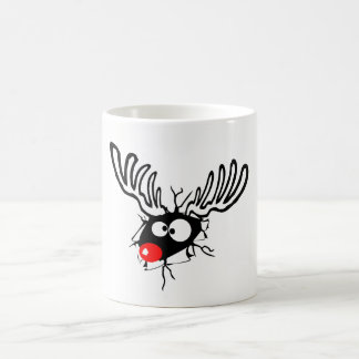 Cute funny Rudolph the red nosed Christmas cartoon Coffee Mug