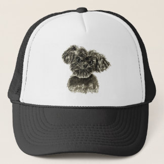 Cute Funny Schnauzer Puppy Watercolour Dog Design Trucker Hat