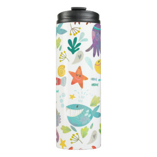 Cute Funny Sea Animals Thermal Tumbler