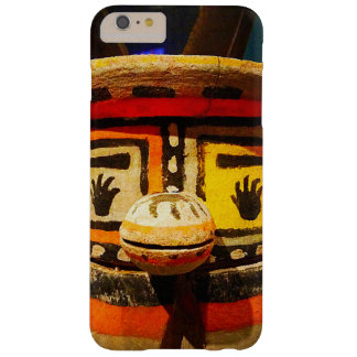 Cute, funny, silly, carved wood kachina face photo barely there iPhone 6 plus case