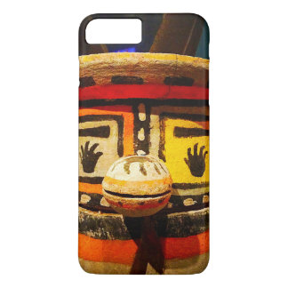 Cute, funny, silly, carved wood kachina face photo iPhone 8 plus/7 plus case