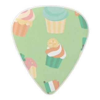 Cute funny St patrick green orange cupcake pattern Acetal Guitar Pick