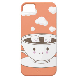 Cute funny sugar cubes bathing in coffee cup iPhone 5 cover