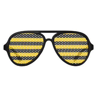 Cute funny sunglasess with bee pattern aviator sunglasses