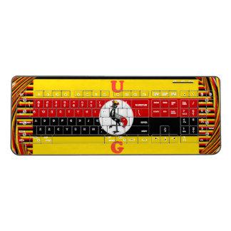Cute Funny U G national  flag colors Wireless Keyboard