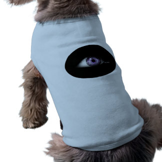 Cute Funny Unique Eyeball of Purple Doggie T-shirt