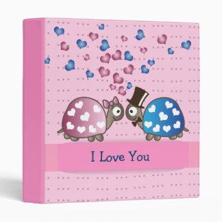 Cute Funny Valentines day Turtles in Love 3 Ring Binders