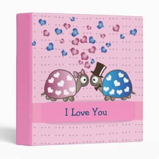 Cute Funny Valentines day Turtles in Love Binder