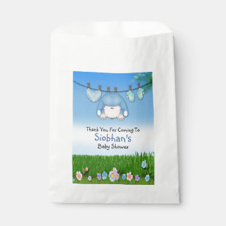 Cute Funny Washing Line Baby Boy Shower Favour Bag