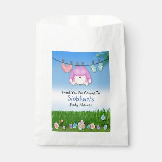 Cute Funny Washing Line Baby Girl Shower Favour Bag