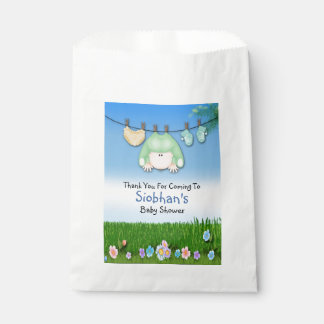 Cute Funny Washing Line Baby Shower Unisex Favour Bag