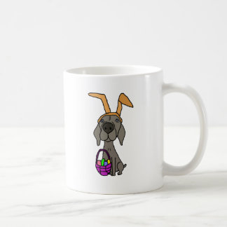 Cute Funny Weimaraner with Bunny Ears Coffee Mug